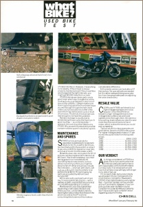 1990 HONDA VT500E ROAD TEST PAGE 3