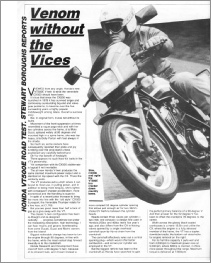July 1983 Motorcycle Weekly VT500E