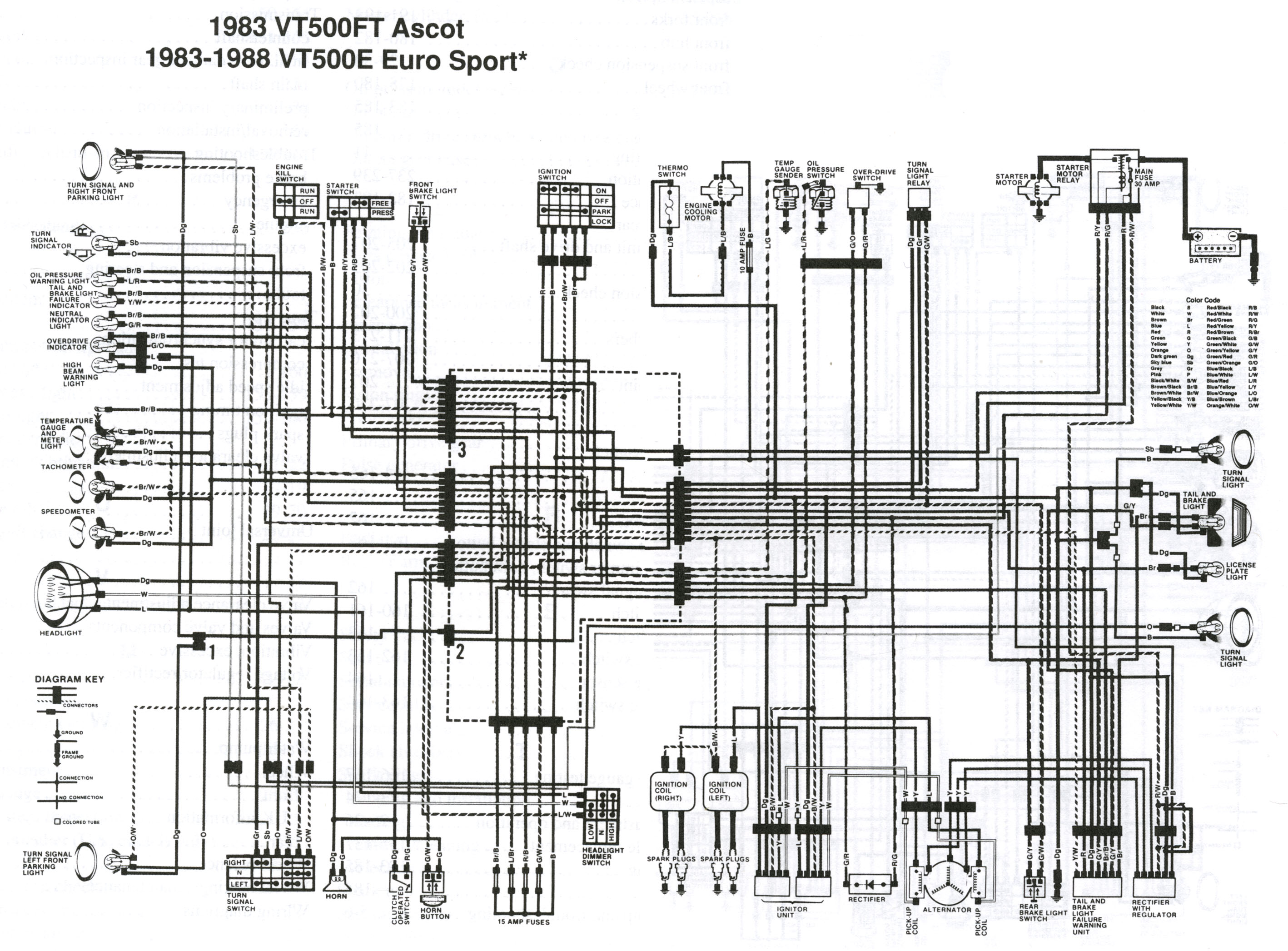 Vt500c Wiring Diagram Schematics Honda Xr80 Vt500 Electrical Diagrams Ladder Ascot